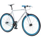28' Fixie Singlespeed Bike Viking Blade 5 Farben zur Auswahl, Farbe: Weiß / Blau; Rahmengrösse: 59 cm -