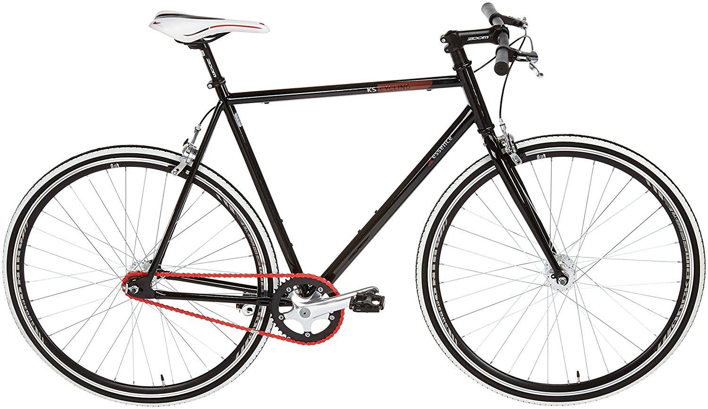KS Cycling Fitnessbike in Schwarz